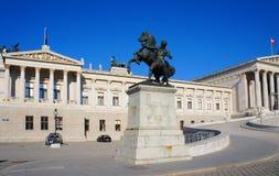 Österrikisk parlamentbyggnad, Wien, Österrike Arkivbild