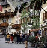österrikisk town Royaltyfri Fotografi