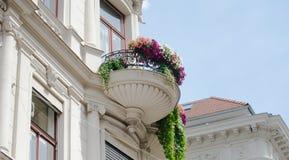 Österrikisk traditionell balkong Royaltyfri Fotografi