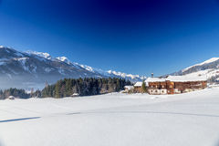 Österrikisk vinter Royaltyfria Bilder