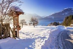 Österrikisk vinter Arkivfoton