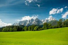 Österrikiska alps i sommar Fotografering för Bildbyråer