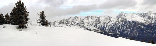 Österrikiska alps i vinter Fotografering för Bildbyråer