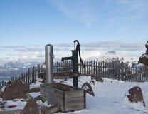 Österrikiska alps i vinter Arkivfoton