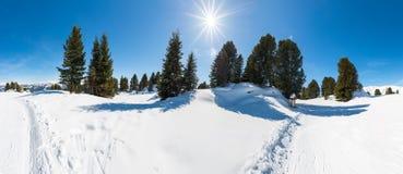 Österrikiska fjällängar, Mayrhofen skidar semesterorten Royaltyfri Fotografi