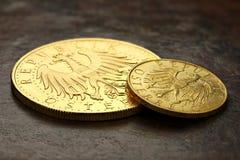Österrikiska guld- mynt Arkivfoto