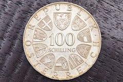 100 österrikiska shillingar Arkivfoto