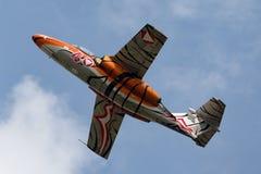Österrikiskt flygplan för instruktör för flygvapenÃ-sterreichische Luftstreitkräfte Saab 105 stråle Arkivbild