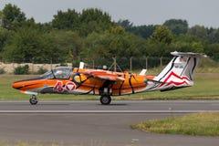 Österrikiskt flygplan för instruktör för flygvapenÃ-sterreichische Luftstreitkräfte Saab 105 stråle Arkivfoto