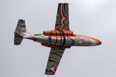 Österrikiskt flygplan för instruktör för flygvapenÃ-sterreichische Luftstreitkräfte Saab 105 stråle Fotografering för Bildbyråer