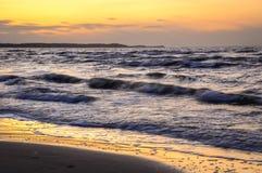 Östersjön i Polen Arkivbilder