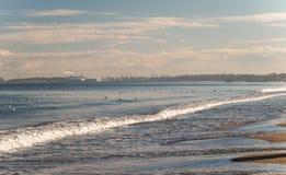 Östersjön kust, Gdansk, Polen Fotografering för Bildbyråer
