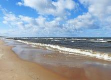Östersjön landskapsikt arkivbild