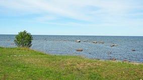 Östersjön landskapsikt nära Tallinn arkivfoton