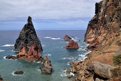 Östlich der Madeira-Insel Ponta de Sao Lourenco Lizenzfreie Stockbilder