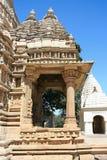 Östliche Gruppe Tempel in Khajuraho Stockfotos