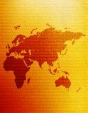 Östliche Hemisphäre-Karte Lizenzfreie Stockfotos
