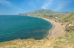 Östliche Krimlandschaft nahe Meganom Umhang Stockbilder
