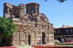 Östliche orthodoxe Kirche in der bulgarischen Stadt von Nesebar Stockbilder