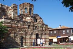 Östliche orthodoxe Kirche in der bulgarischen Stadt von Nesebar Stockbild