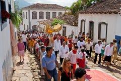 Östliche Prozession Tiradentes Brasilien Stockbild