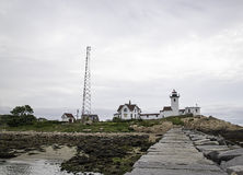 Östlicher Punkt-Leuchtturm Stockbild