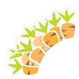 Östliches orange Karottenmuster auf einem Weiß Stockfotografie
