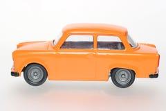 östlig bil - tysk trabant sideviewtoy Arkivfoton