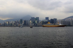 Östlig drakekryssning, Hong Kong Arkivbild