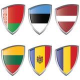 östlig Europa flaggasköld för 2 Royaltyfria Foton