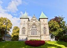 Östlig fasad av den Stavanger domkyrkan (XIII c ), norway Fotografering för Bildbyråer