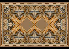 Östlig filt i varma bruna apelsinbruntnyanser Arkivfoto