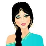 östlig flicka royaltyfri illustrationer