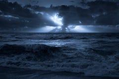östlig fullmåne för kust Royaltyfria Foton