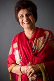 östlig gammalare indisk lady arkivfoton