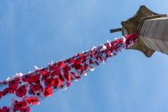 ÖSTLIG GRINSTEAD, VÄSTRA SUSSEX/UK - AUGUSTI 18: Sikt av kriget Mem arkivfoton