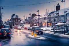 ÖSTLIG GRINSTEAD, VÄSTRA SUSSEX/UK - DECEMBER 19: Sikt av höjdpunkten Arkivfoton