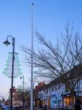 ÖSTLIG GRINSTEAD, VÄSTRA SUSSEX/UK - JANUARI 5: Sikt av den höga Sten Arkivfoton