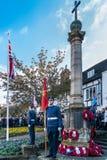 ÖSTLIG GRINSTEAD VÄSTRA SUSSEX/UK - NOVEMBER 13: Minnesgudstjänstnolla Royaltyfri Fotografi