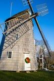Östlig Hampton stadväderkvarn på jultid Royaltyfri Foto