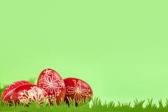 Östlig handgjord traditionell äggbakgrund Arkivbild