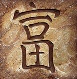 östlig hieroglyph för calligraphy Fotografering för Bildbyråer