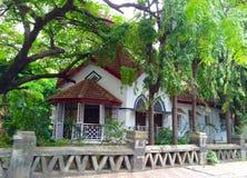 Östlig Indien bungalow Arkivbilder