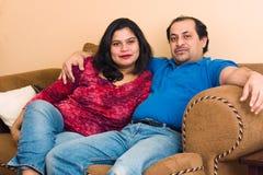östlig indier för par Arkivbild