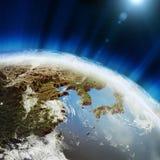 Östlig jordöversikt Fotografering för Bildbyråer