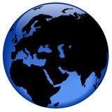 östlig jordklotmittsikt Arkivfoto