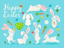 Östlig kaninbanerdesign royaltyfri illustrationer