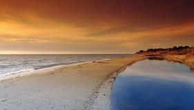 Östlig kust av den Korsika ön Royaltyfri Fotografi