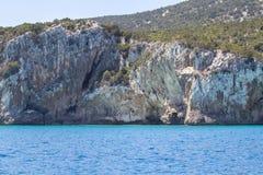 Östlig kustlinje på den Sardinia ön, Italien Arkivfoto