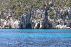 Östlig kustlinje på den Sardinia ön, Italien Arkivfoton